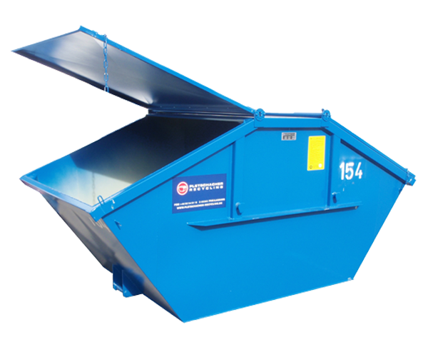 Blauer Abrollcontainer